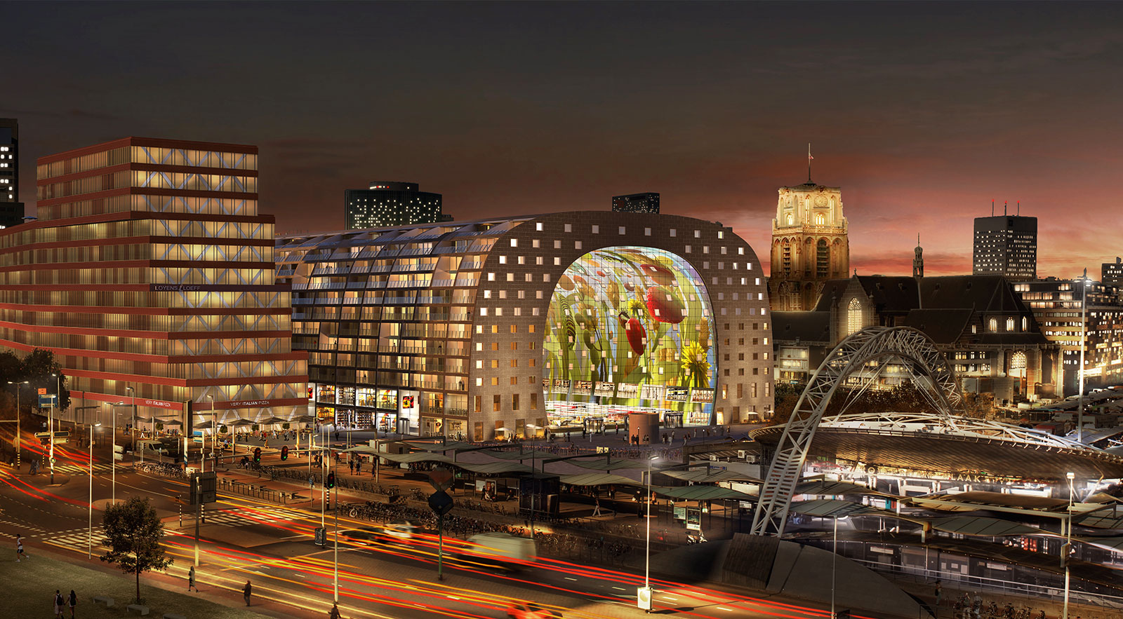 Markthal-Rotterdam-At-Night