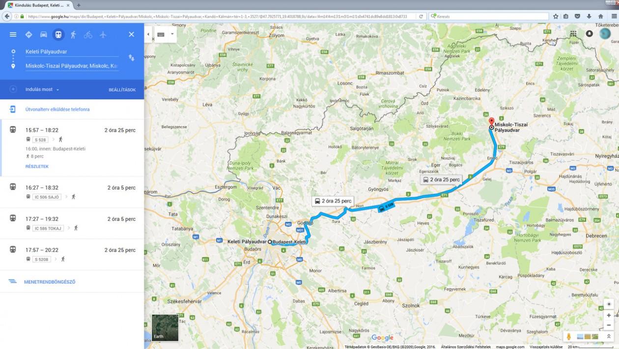 Vonattal Egyszerubben A Google Terkepen Az Utazo Magazin