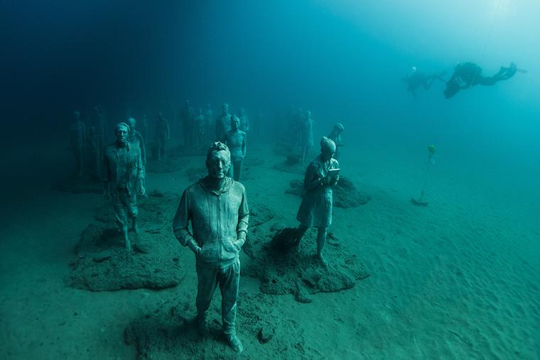Mély kultúra: kiállítás a tengerfenéken!