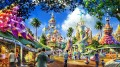 """A tervezett szabadidő park első elképzelései meglehetősen tarka, sokszínű csodavilágot ígérnek. A képen az ún. """"Mechanical Garden""""  (Mechanikus kert) forgó-mozgó csodamasináit láthatjuk"""