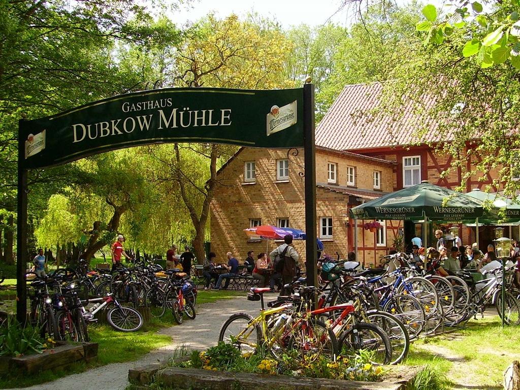 Dubkow-Mühle, a turisták és bicajosok egyik kedvenc pihenőhelye