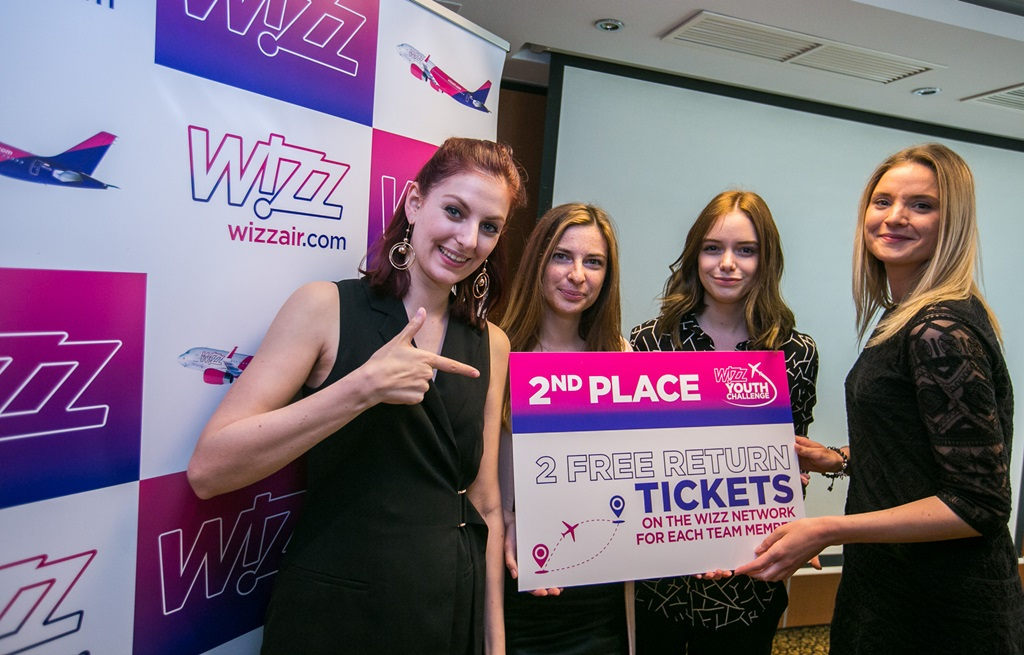 A WIZZ Youth Challenge második helyezettje, a Budapesti Corvinus Egyetem csapata