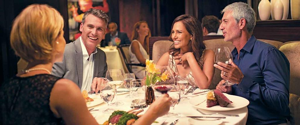 A legtöbb hajózási társaságszámára úgy kívánatos,hogy éttermeiben és bárjaiban a helynek megfelelő és oda illő ruházatban jelenjenek meg utasaik, tehát nem fürdőruhában vagy rövidnadrágban.