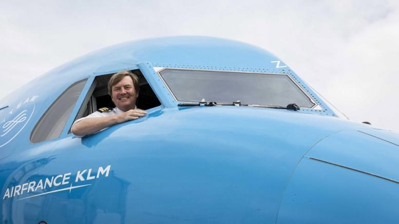 Willem-Alexander, a repülő holland király; Fotó: NATASCHA LIBBERT / AFP - Getty Images