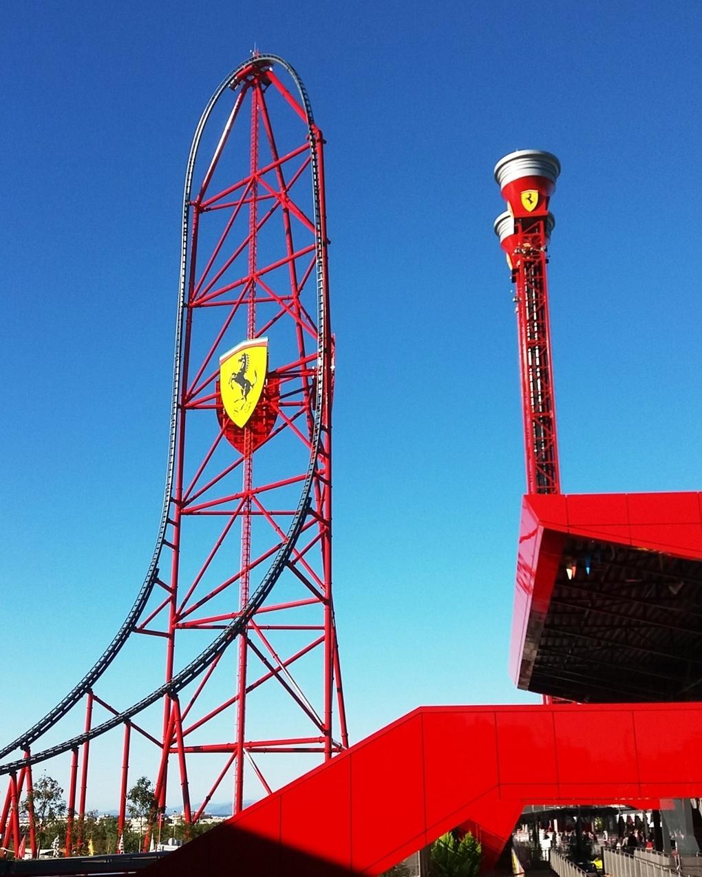 A Ferrari Land híres hullámvasútja