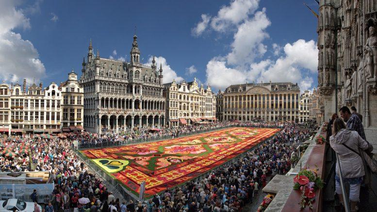 Flower Carpet rendezvény Brüsszel főterén
