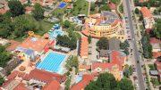 A Szent Erzsébet Mórahalmi Gyógyfürdő felülnézeti képe